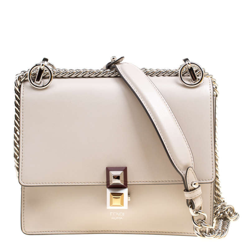... Fendi Light Beige Leather Small Kan I Crossbody Bag. nextprev. prevnext 2a0ca735e5397