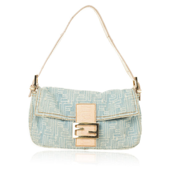 Buy Fendi Zucca Denim Baguette Bag 27810 at best price  0862880c143bc