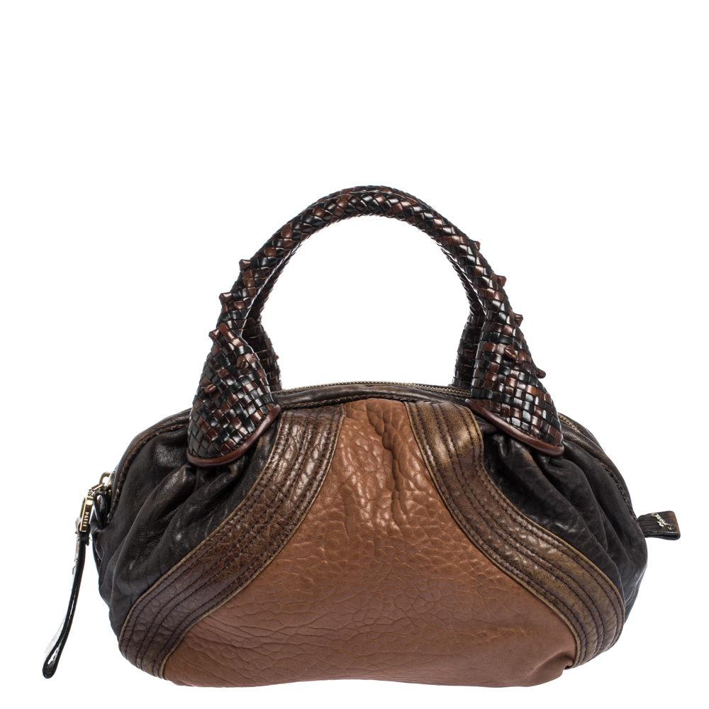 Fendi Brown Leather Baby Spy Bag
