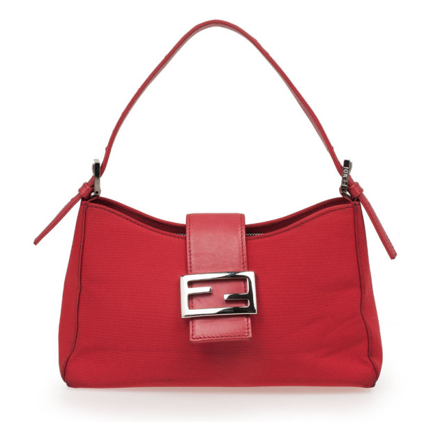3efcf7759df9 Buy Fendi Red Mini Baguette Bag 32916 at best price