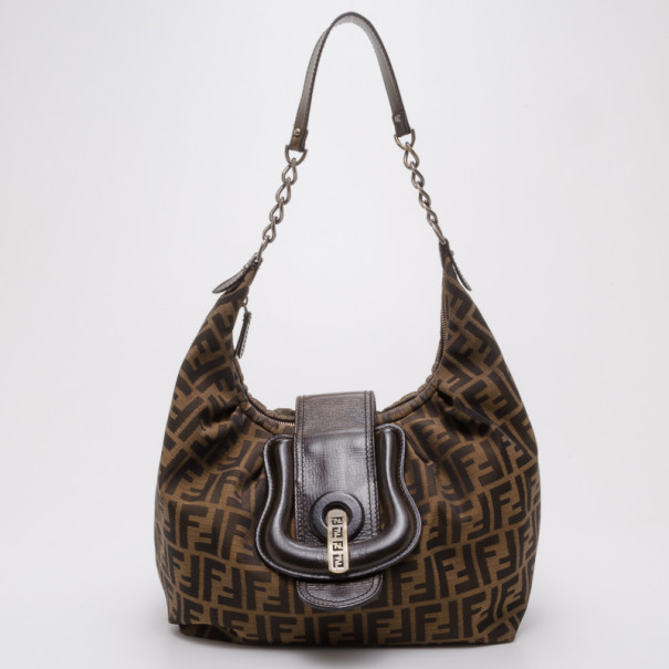 8e1698299744 Buy Fendi Zucca Borsa B Hobo Bag 37822 at best price