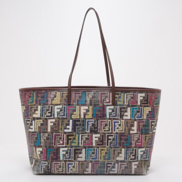 ... Fendi Multi-Color Zucca Jacquard Shopping Tote. nextprev. prevnext f7cc9d1d3c358
