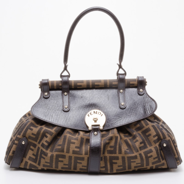 4994cceab507 Buy Fendi Zucca Magic Medium Satchel Handbag 37913 at best price
