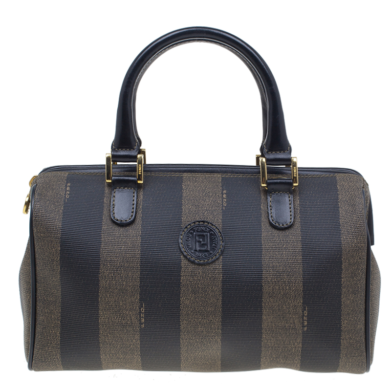 35863d1c5ac6 Buy Fendi Black Pequin Tote Boston Bag 39582 at best price