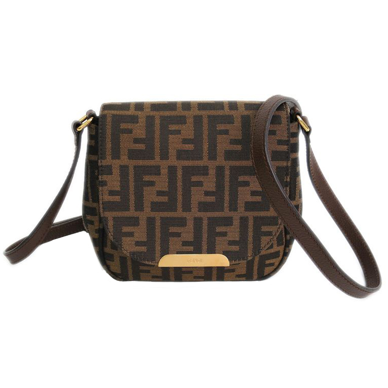 729b6c694d63 Buy Fendi Tobacco Zucca Small Crossbody Bag 41854 at best price