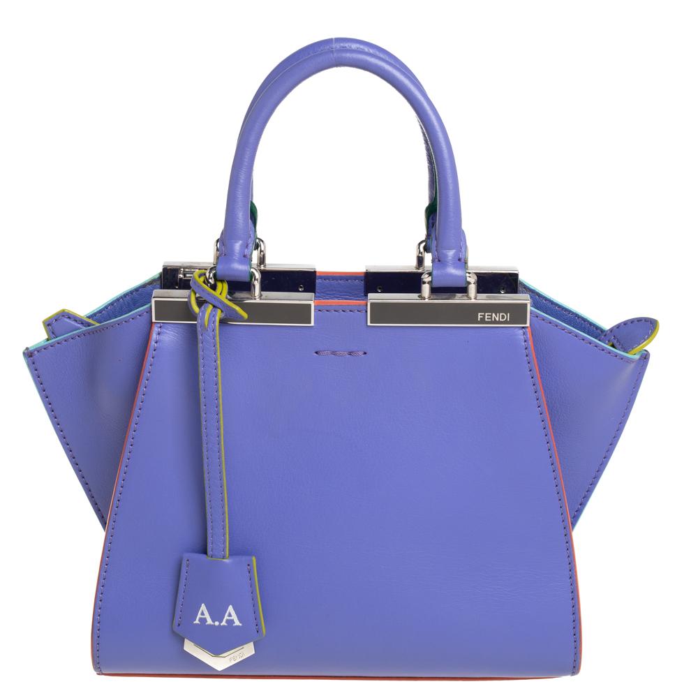 Fendi Lavender Leather Mini 3Jours Tote