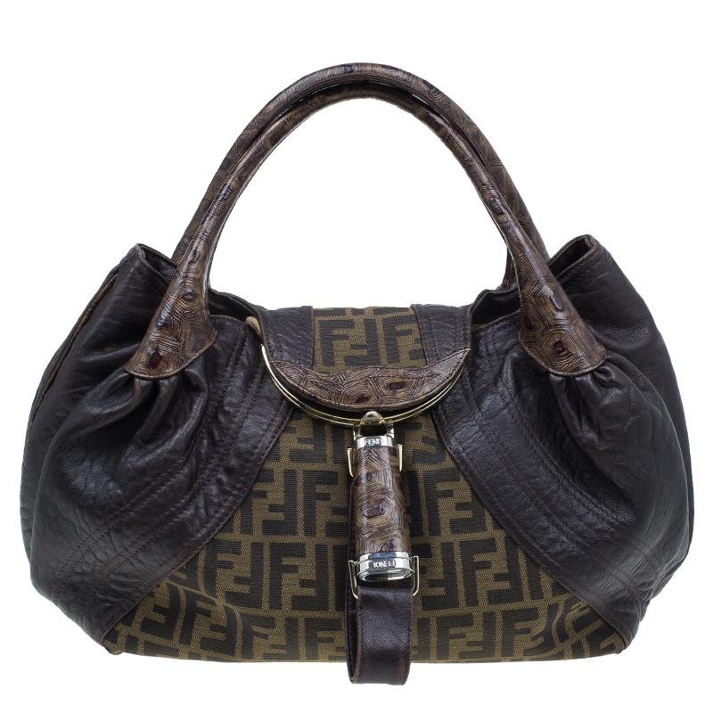 5d171c76106 ... Fendi Brown Leather Canvas Limited Edition Tortoise Spy Bag. nextprev.  prevnext