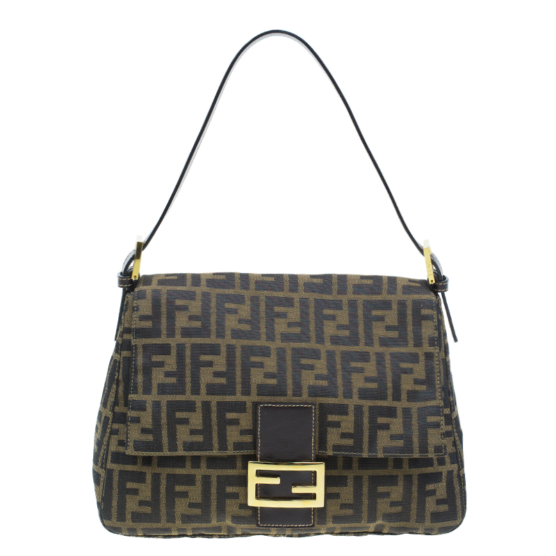 Buy Fendi Brown Tobacco Zucca Mama Baguette 46808 at best price  b260e63edf0f5