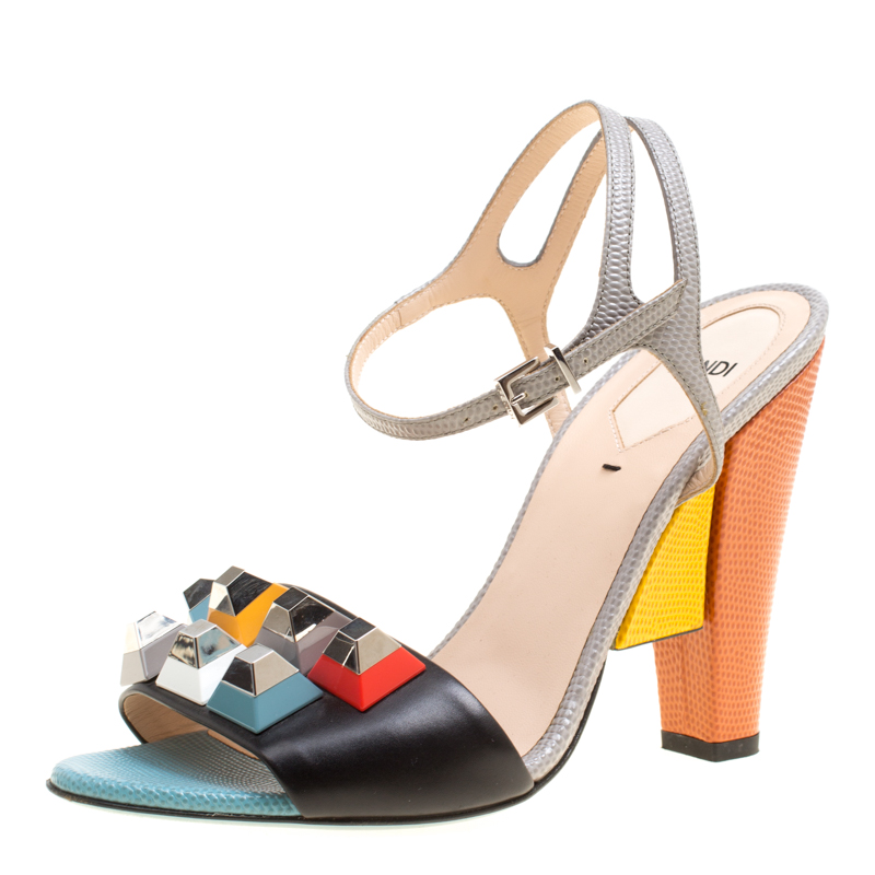 220ba020ff5 ... Leather Fantasia Studded Ankle Strap Sandals Size 39.5. nextprev.  prevnext