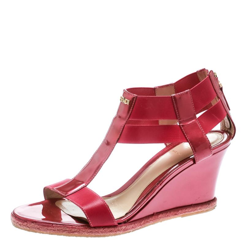42daa00458a1 ... Fendi Metallic Pink Leather T-Strap Espadrille Wedge Sandals Size 40.  nextprev. prevnext