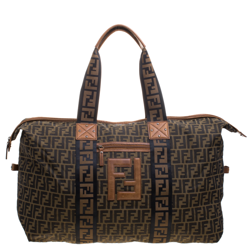 6c0e918aa ... Fendi Brown Zucca Canvas Carryall Weekender Traveling Bag. nextprev.  prevnext