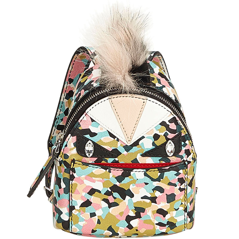 00b45f17f1f4 ... Fendi Multicolor Leather Bag Bugs Backpack Bag Charm. nextprev. prevnext