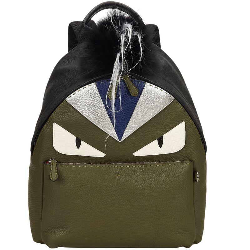 36dbd63184a6 ... Fendi Multicolor Roman Leather Bag Bugs Backpack. nextprev. prevnext