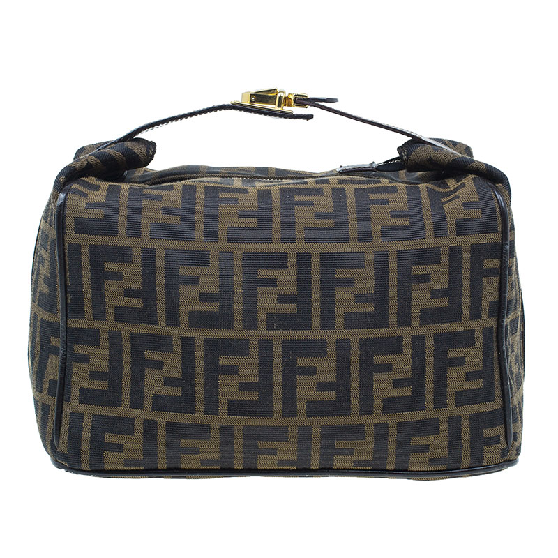 14b2d475c34b Buy Fendi Brown Zucca Canvas Vanity Cosmetic Bag 39603 at best price ...