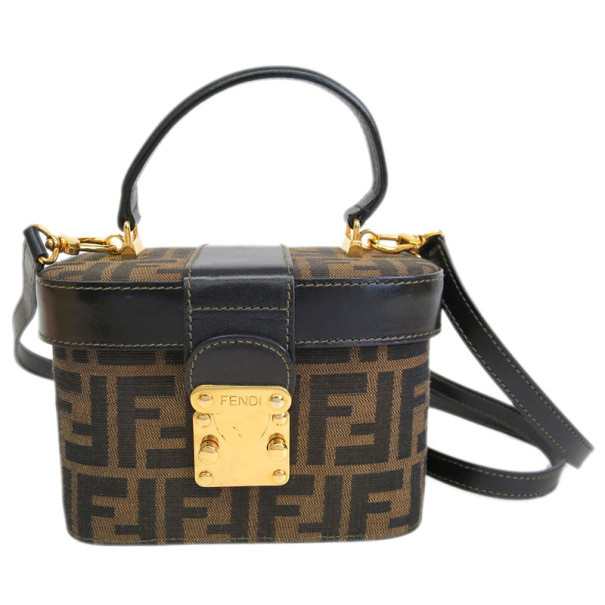 45e0f773fe08 Buy Fendi Brown Zucca Canvas Vanity Bag 8049 at best price