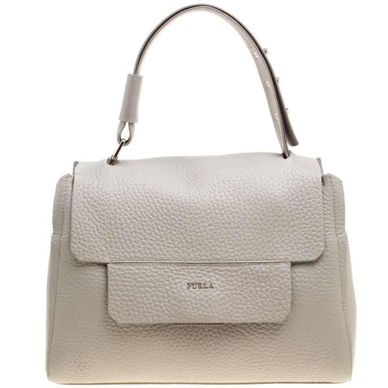 92611bd1a61 ... Furla Grey Leather Medium Capriccio Top Handle Bag. nextprev. prevnext