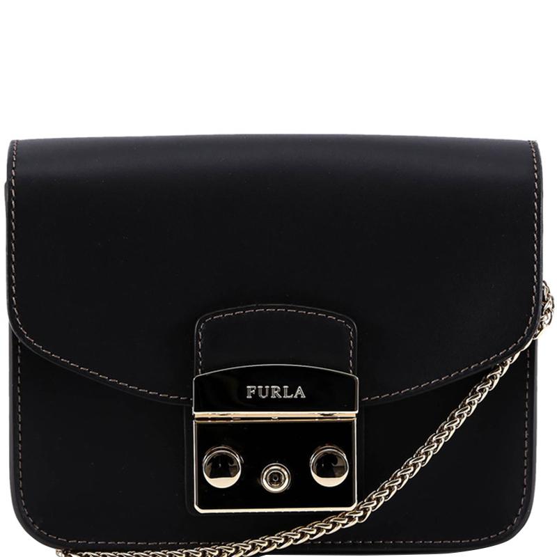 1b18bc173 Buy Furla Onyx Leather Mini Metropolis Crossbody Bag 172056 at best ...
