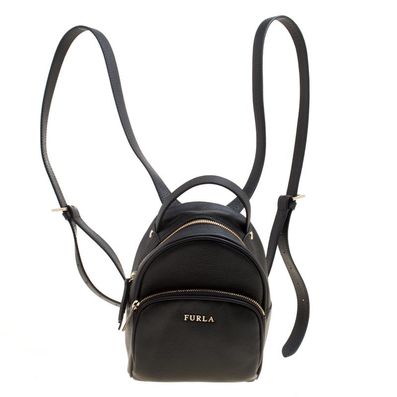 49f98f0e7a Buy Furla Black Leather Mini Frida Backpack 161327 at best price