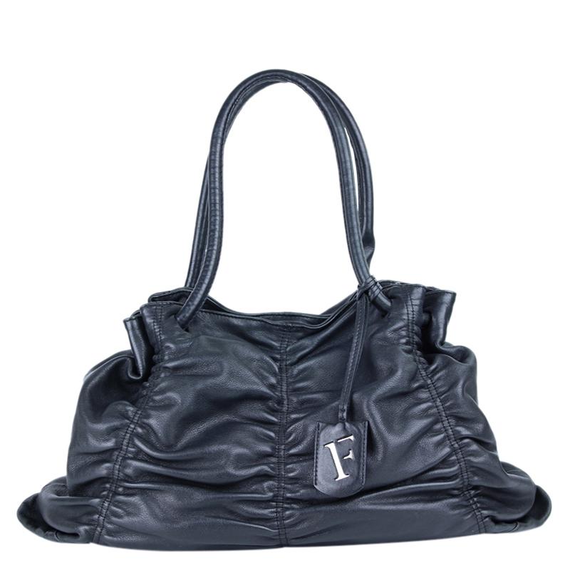 Buy Furla Black Leather Shoulder Bag 117302 at best price  0f90d27b01095