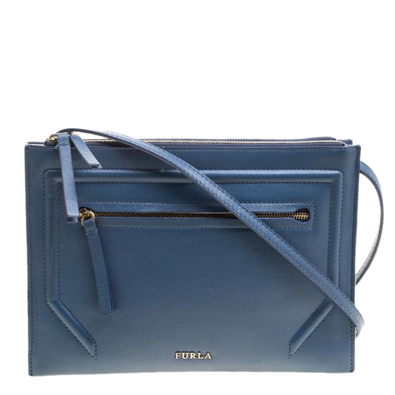 27cfce64061f6 Buy Furla Navy Blue Leather Crossbody Bag 127434 at best price   TLC