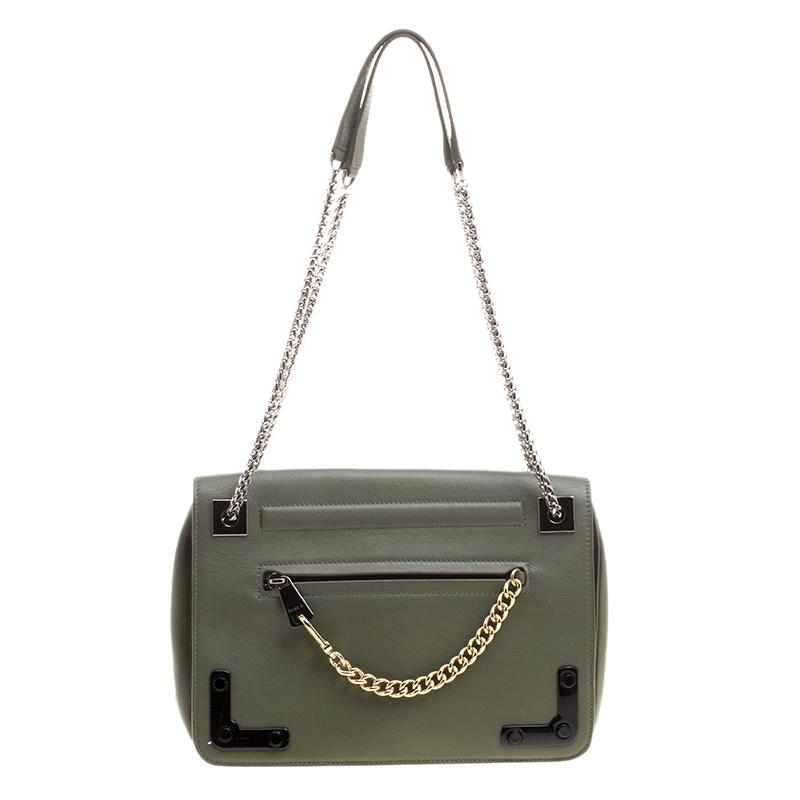 99e43ab2face ... Furla Olive Green Leather Diana Shoulder Bag. nextprev. prevnext
