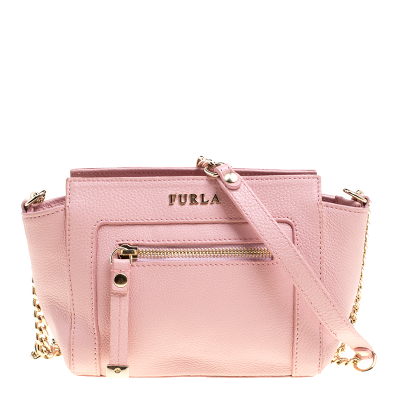 ... Furla Pink Leather Mini Ginevra Crossbody Bag. nextprev. prevnext