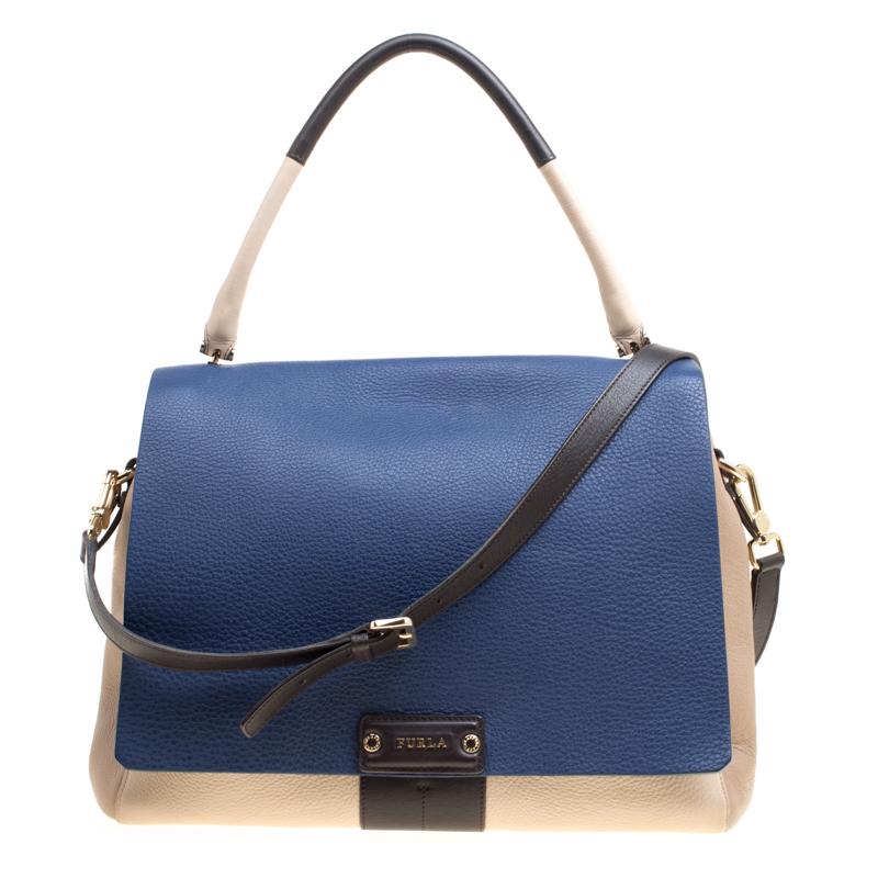 efd6931a1 Buy Furla Tri Color Leather Top Handle Bag 153013 at best price   TLC