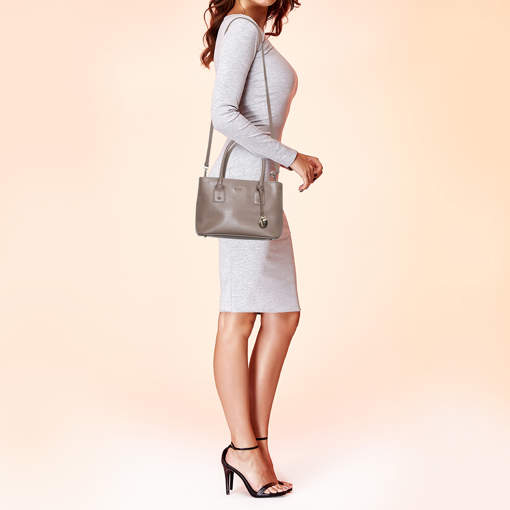Furla Brown Leather Small Linda Tote  - buy with discount