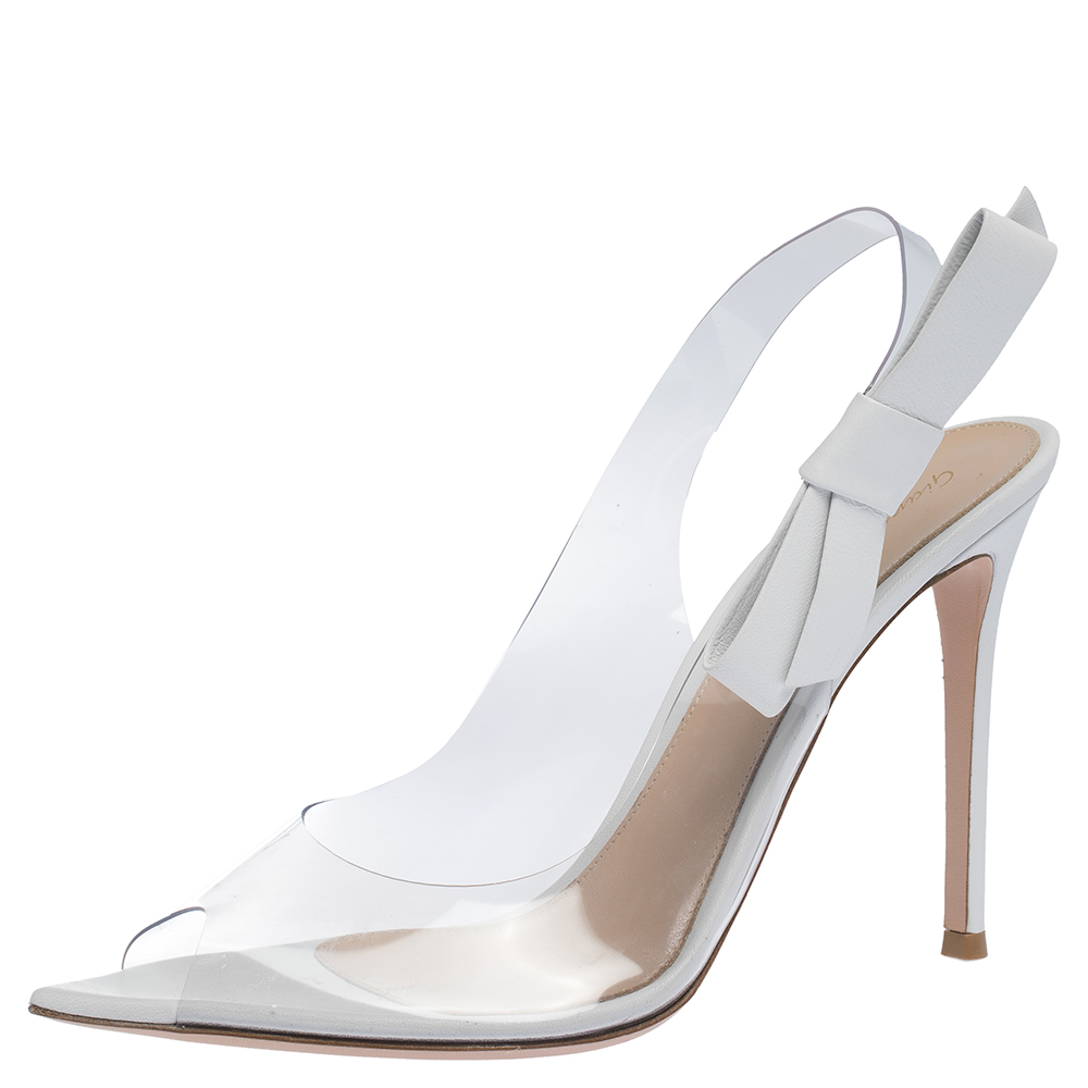 Gianvito Rossi White Leather And PVC