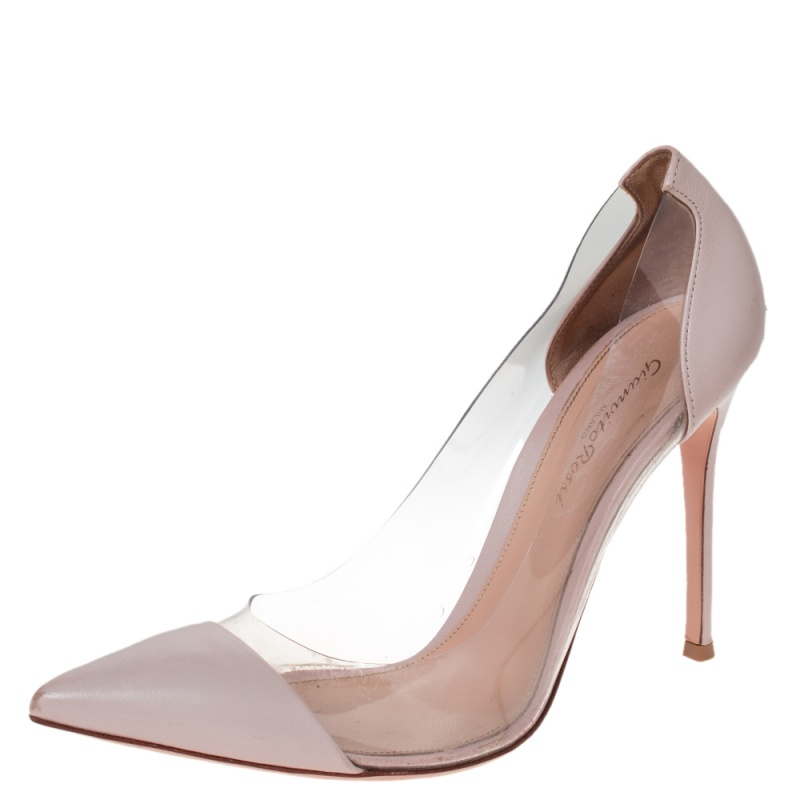 Gianvito Rossi Blush Pink Leather And