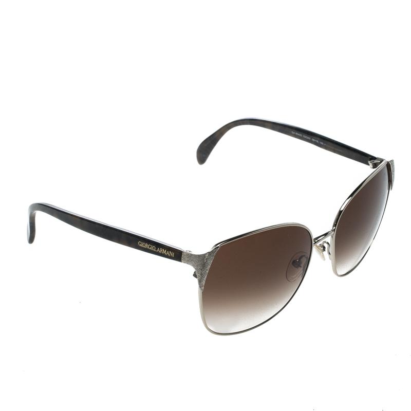 f4bcea18fd1e Buy Giorgio Armani Silver/Brown Gradient GA854/S Wayfarer Sunglasses ...