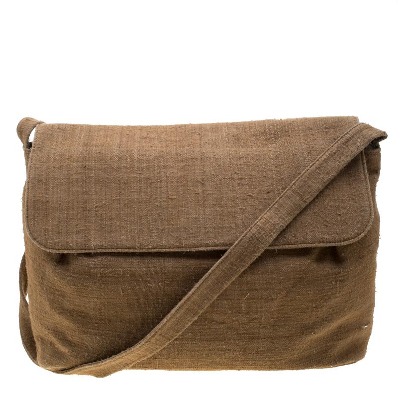 95e80a50c2 Giorgio Armani Light Brown Jute Shoulder Bag