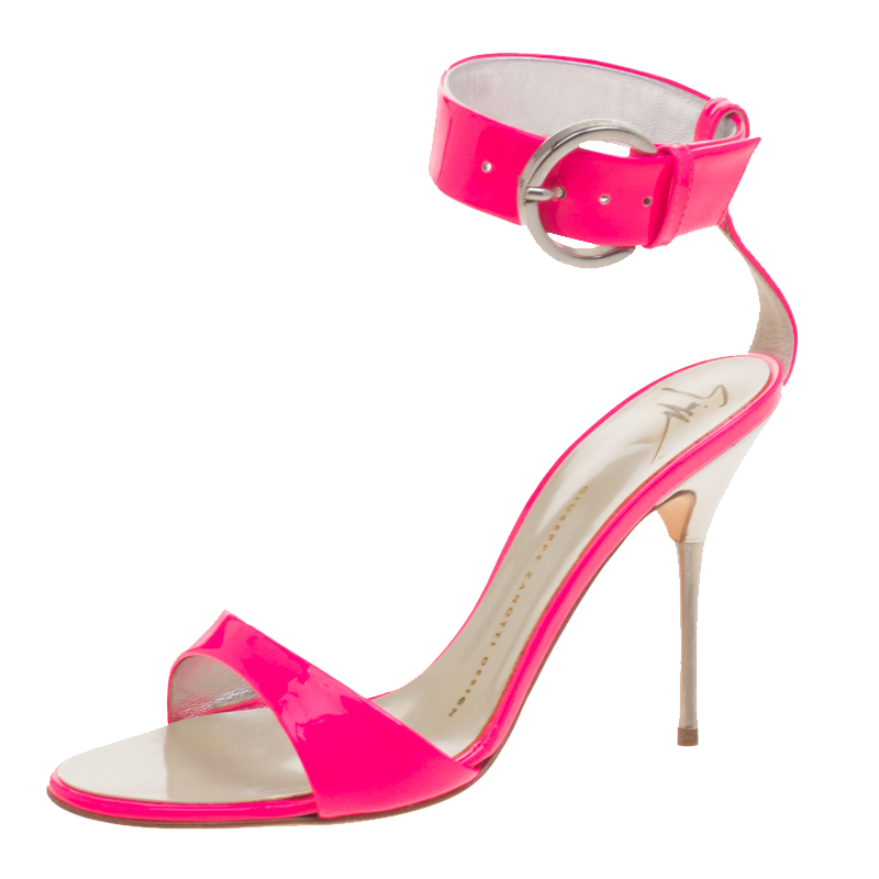 fd7986c7c Buy Giuseppe Zanotti Fluorescent Pink Patent Leather Ankle Cuff ...