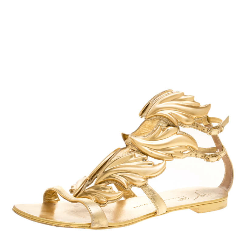 24551b431581 Buy Giuseppe Zanotti 20th Anniversary Jewel Edition Metallic Gold ...