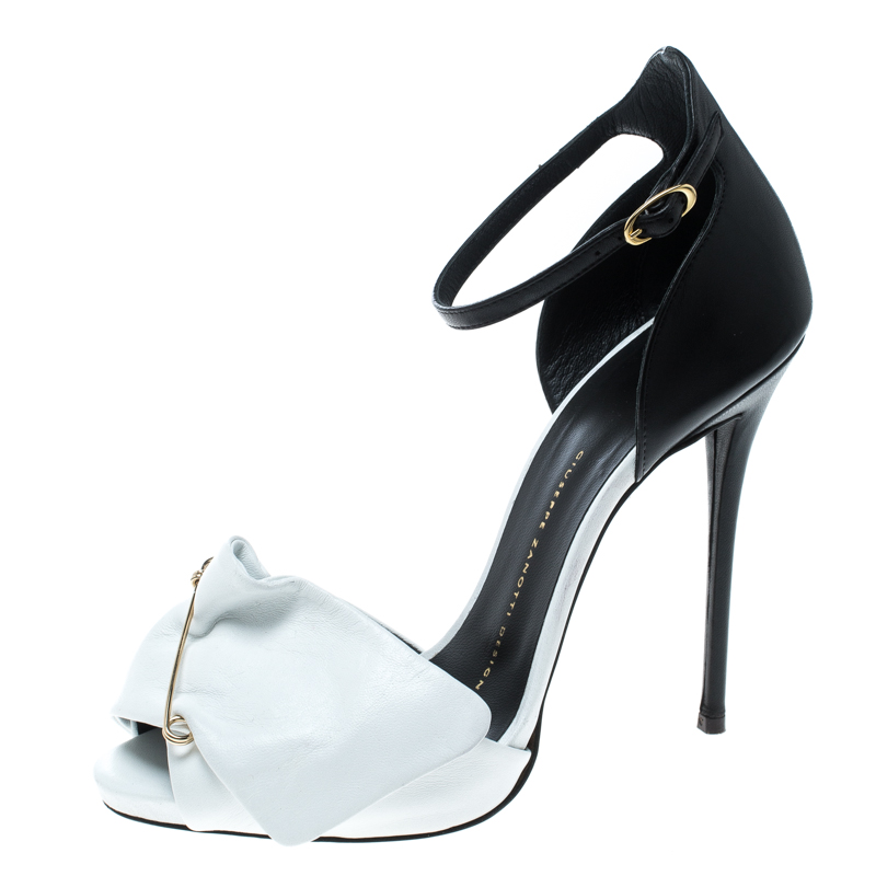 65fa917b90198 ... Giuseppe Zanotti Monochrome Leather Safety Pin Ankle Strap Sandals Size  38.5. nextprev. prevnext