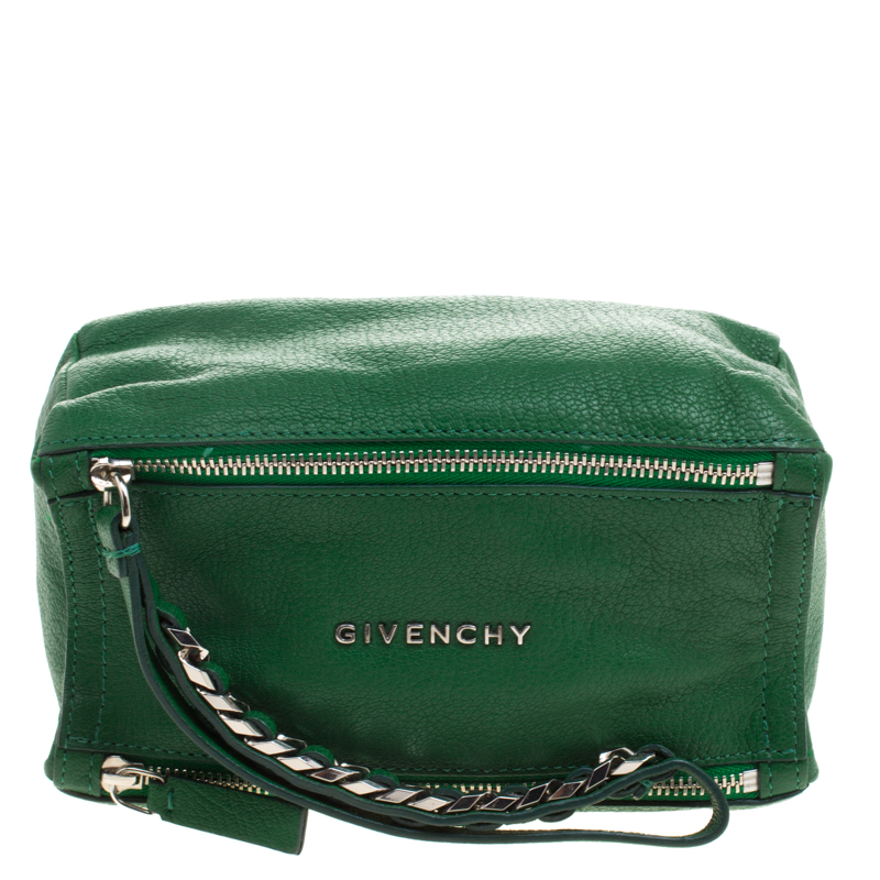 ea2841d9a05 Buy Givenchy Green Leather Pandora Wristlet Clutch 112587 at best ...