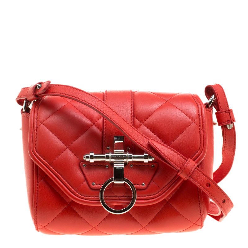 5f105a4b72 ... Givenchy Red Quilted Leather Small Obsedia Crossbody Bag. nextprev.  prevnext