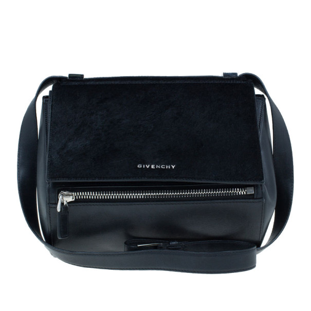 400b4d7252240 Buy Givenchy Black Leather Medium Pandora Box Bag 13637 at best ...