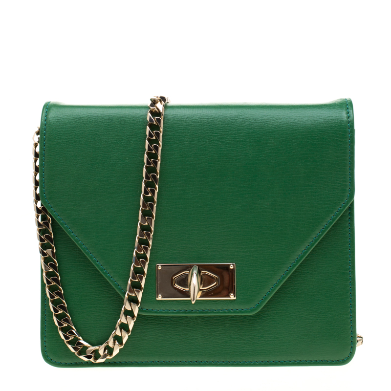 81e5b7630a Buy Givenchy Green Leather Shark Flap Crossbody Bag 192907 at best ...