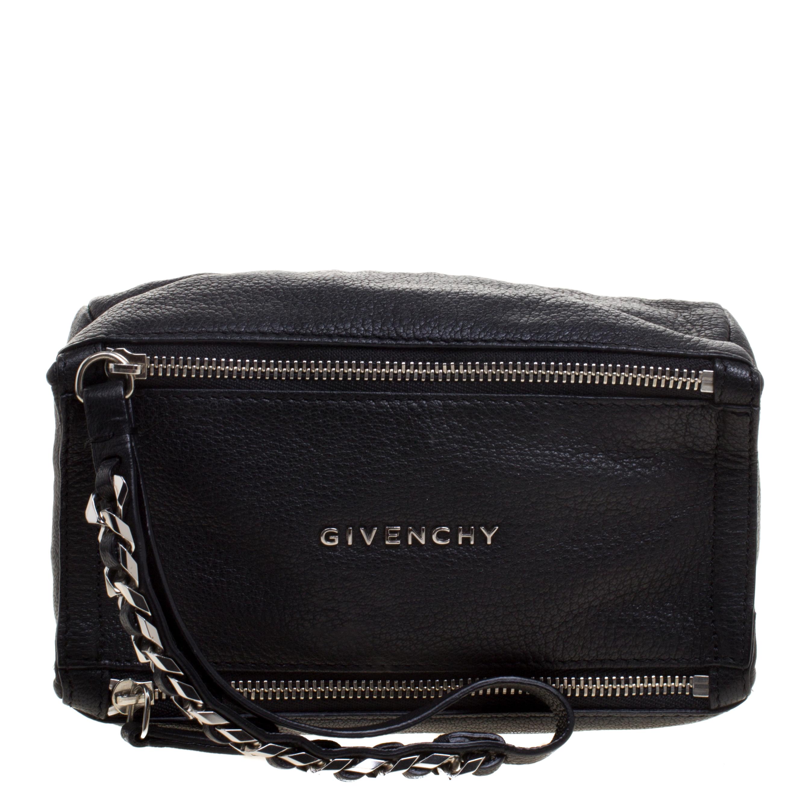 22911566b27 Buy Givenchy Black Leather Pandora Wristlet Clutch 110410 at best ...