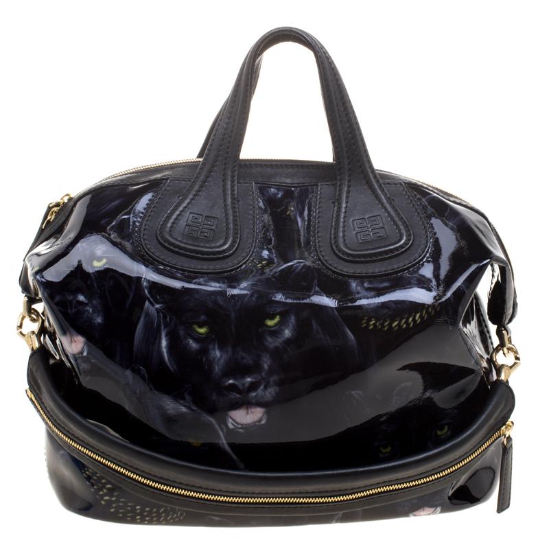 c6c319683de1 ... Givenchy Black Panther Print Patent Leather Medium Nightingale Tote.  nextprev. prevnext