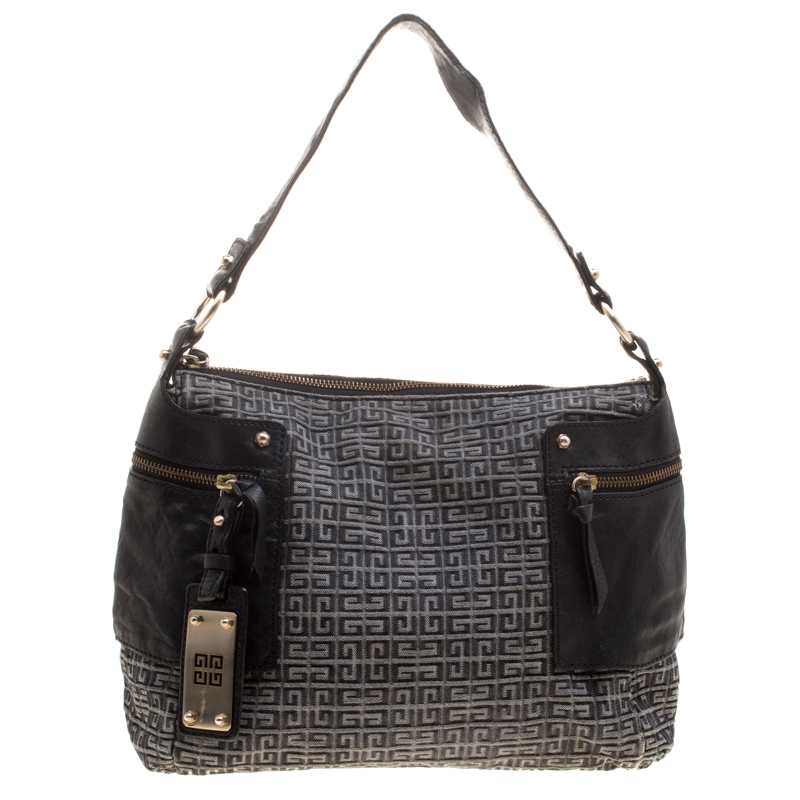 f54c3956ff2c Buy Givenchy Grey Monogram Fabric Shoulder Bag 124911 at best price ...