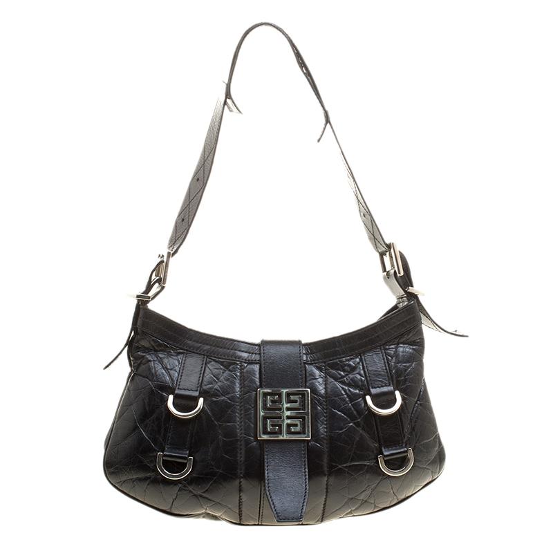 Givenchy Black Leather Shoulder Bag