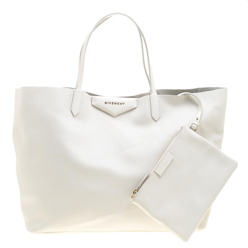 cb2806178ebc ... Givenchy Off White Leather Large Antigona Shopping Tote. nextprev.  prevnext