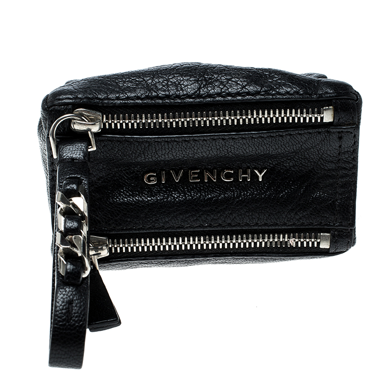 Buy Givenchy Black Leather Pandora Coin Purse 143396 at best price  32f52bc13f28c