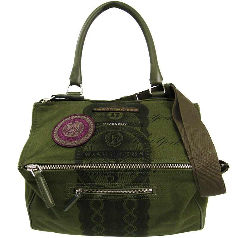 d433937914 ... Givenchy Olive Green Printed Canvas Pandora Bag. nextprev. prevnext