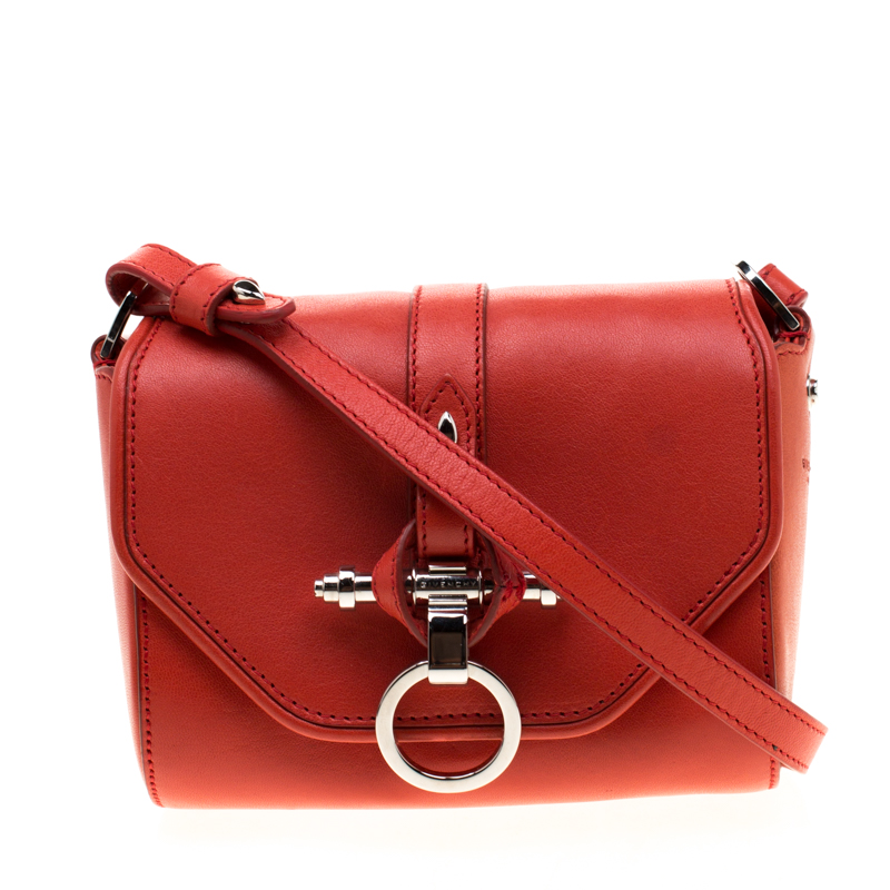 62f7a5420 Givenchy Red Leather Small Obsedia Crossbody Bag 192905 At Best