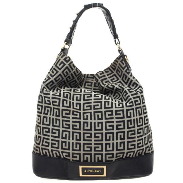 54edb11eb4fe Buy Givenchy Black Monogram Hobo Bag 25289 at best price