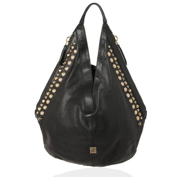bca48ed663 Buy Givenchy Black Studded Tinhan Hobo Bag 28351 at best price