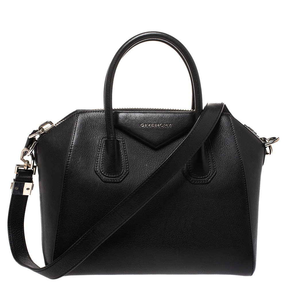 Givenchy Black Leather Small Antigona Satchel
